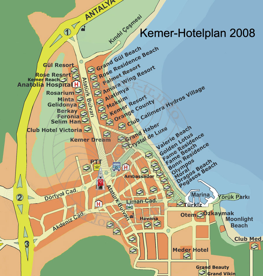 Hotels in Kemer Antalya Turkey