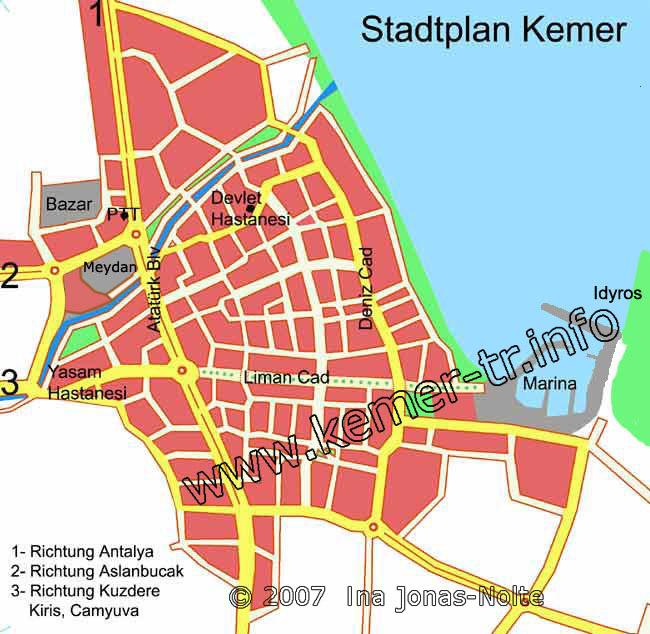 The Holiday resort City Kemer near Antalya Turkey